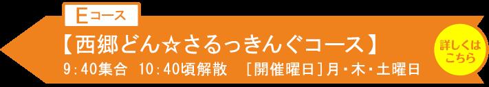 【Eコース】 西郷どん☆さるっきんぐコース
