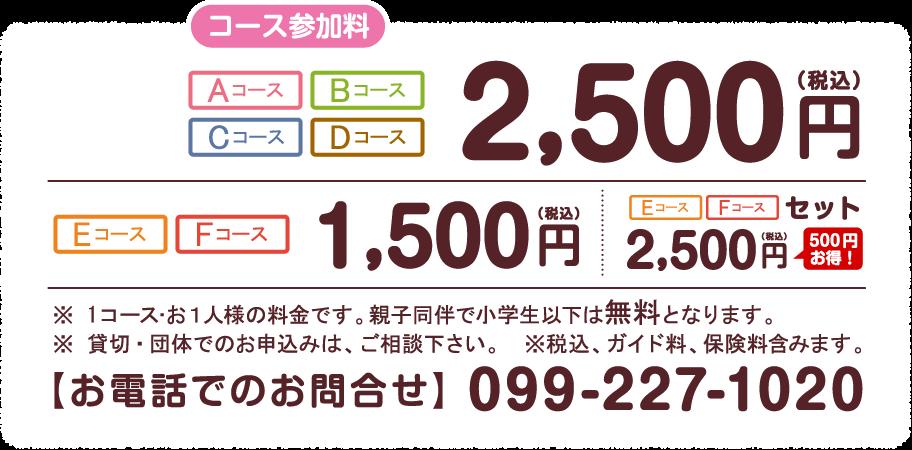 キャンペーン 参加料1,500円/2,000円